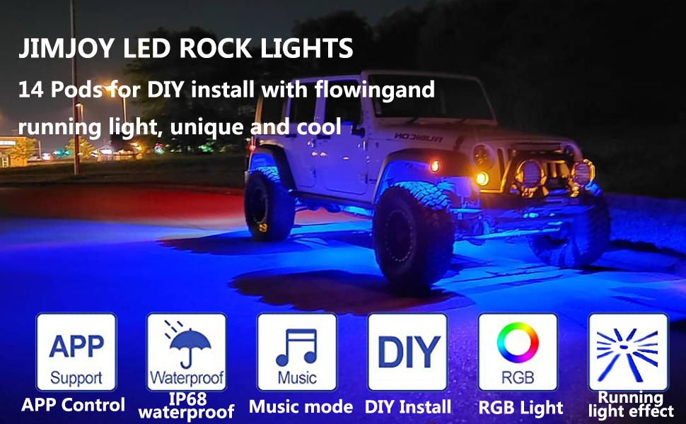 LED RGB ROCK Light