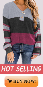 Aoysky womens fashion batwing sleeve loose pullover sweater tops