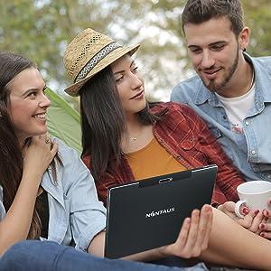 "dual speakers 10"" tablet android 10 OS 2GB RAM 32GB ROM storage 1280 * 800 pixel HD display"