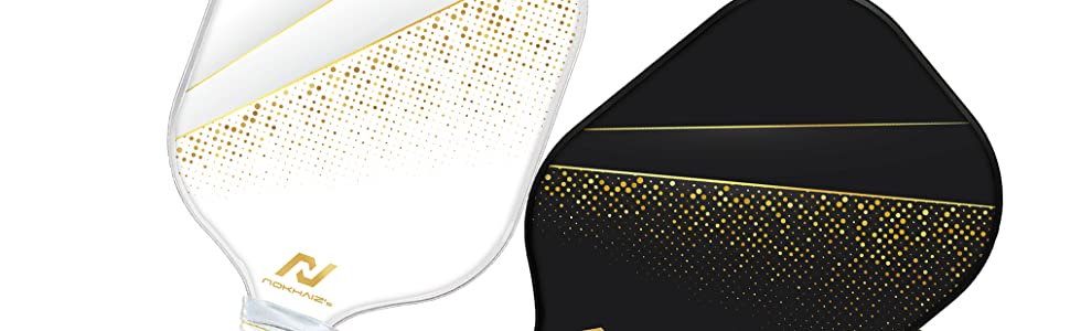 Nokhaizamp;#39;s Pickleball Paddle in gold color theme