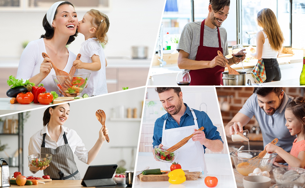 wooden utensils for cooking