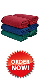 Large Microfiber Cleaning Towels 6-Pack