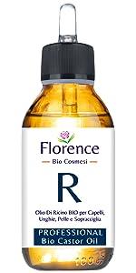 Aceite de ricino orgánico, prensado en frío