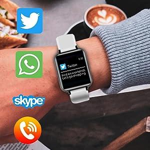 B57 smart watch band message reminder