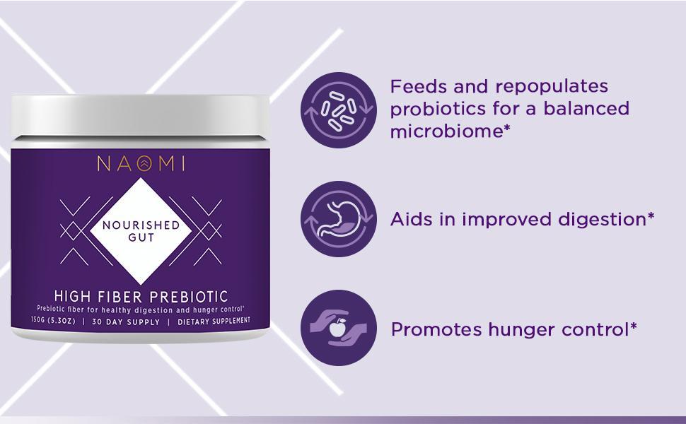 NWB High Fiber Prebiotic Sugar Free Supplement