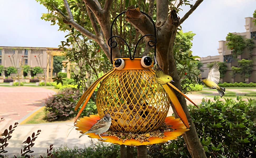 bird feeders for outside hanging