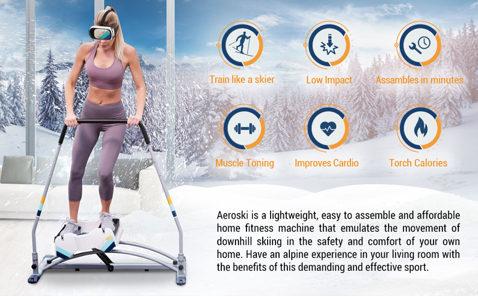 Aeroski is a lightweight, easy to assemble and affordable home fitness machine