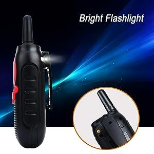 walkie talkies flashlight two way radio rechargeable long range 5 miles