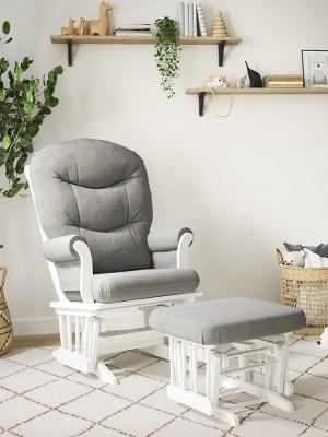 Adele Glider chair with ottoman, Boho decor