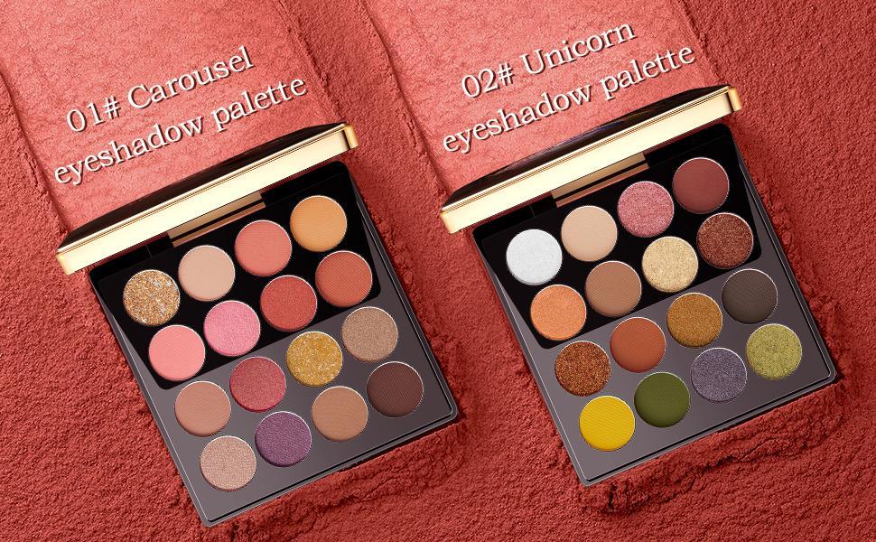 01# Carousel eyeshadow palette &  02# Unicorn eyeshadow palette