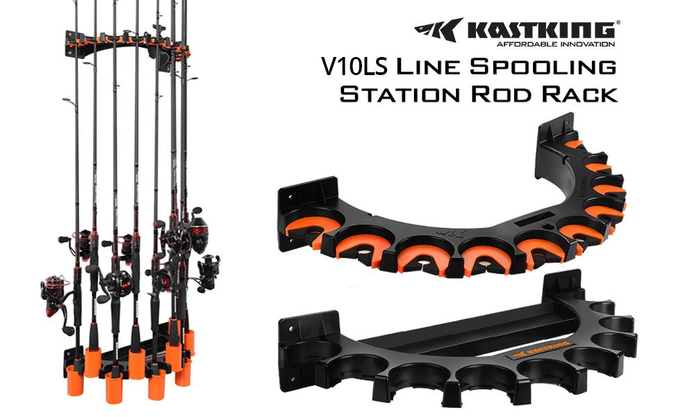 KastKing V10LS Spooling Station and Rod Rack