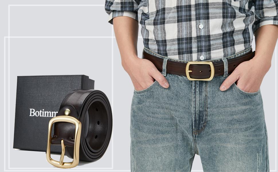 mens belt  solid brass