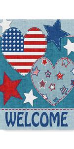 American Welcome Garden Flag