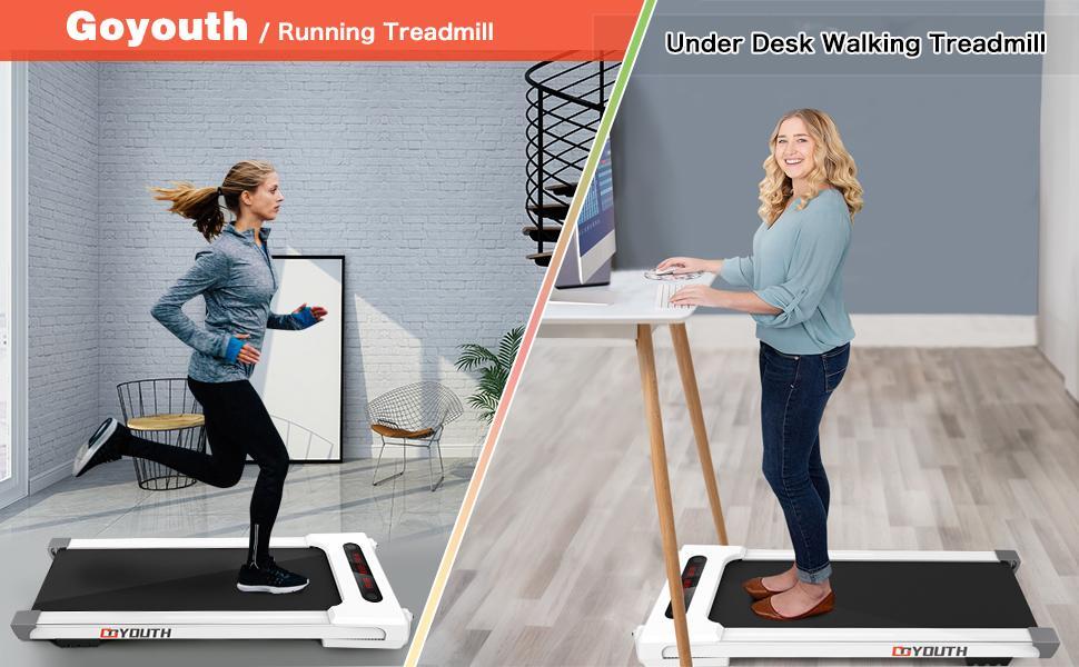 GOYOUTH Under Desk Walking Treadmill