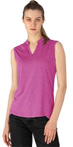 Womenamp;#39;s Golf Polo T-Shirts Sleeveless