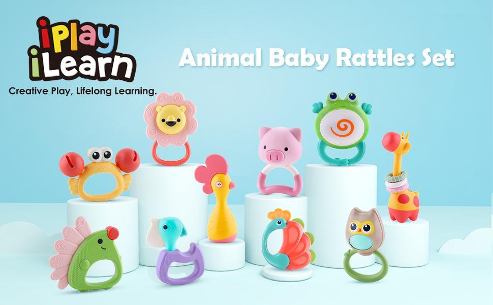 Aniaml Baby Rattles Set