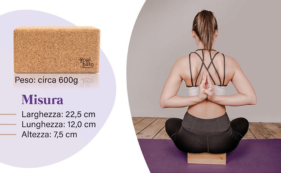 Yiize Mattoncini Yoga Training Esercizi di Stretching per Principianti e Avanzati 2 Pezzi Stabile e Antiscivolo per Yoga e Fitness e Pilates Realizzato in Sughero e Materiale Eva