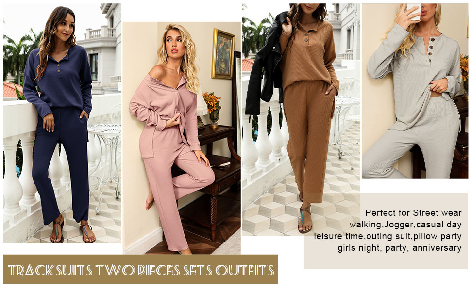 solid color pajama sets solid lounge wear two pieces outfits tracksuits
