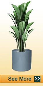 8 Inch Grey Ceramic Pot with Plug