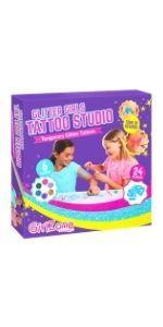 set de tatuajes brillantes de purpurina para niñas unicornio manualidades