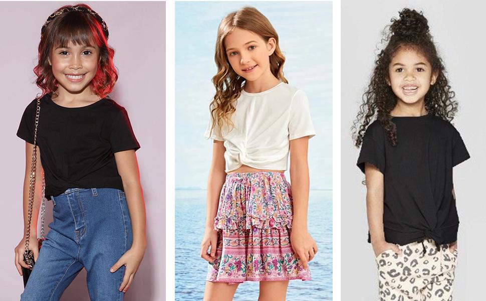 Girls Summer Basic Tops