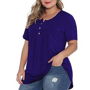 plus size loose blouse