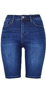 Bermuda Denim Shorts for Women