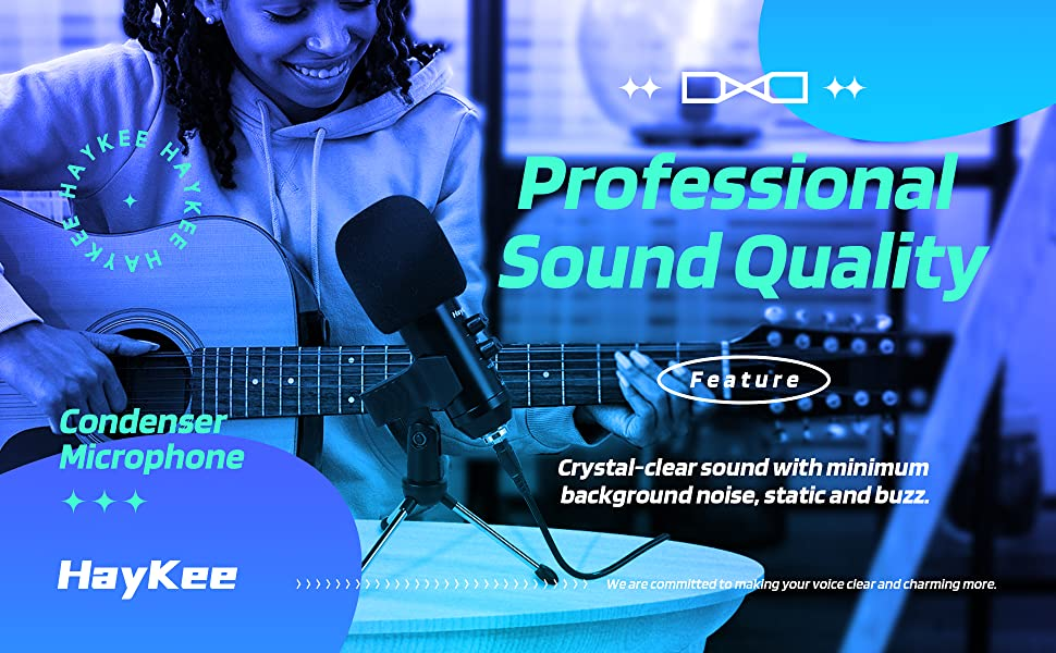 Professional Sound Quality. Crystal-clear sound with minimum background noise, static and buzz.