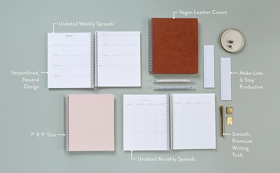 Minimal Weekly or Monthly Focused Planners