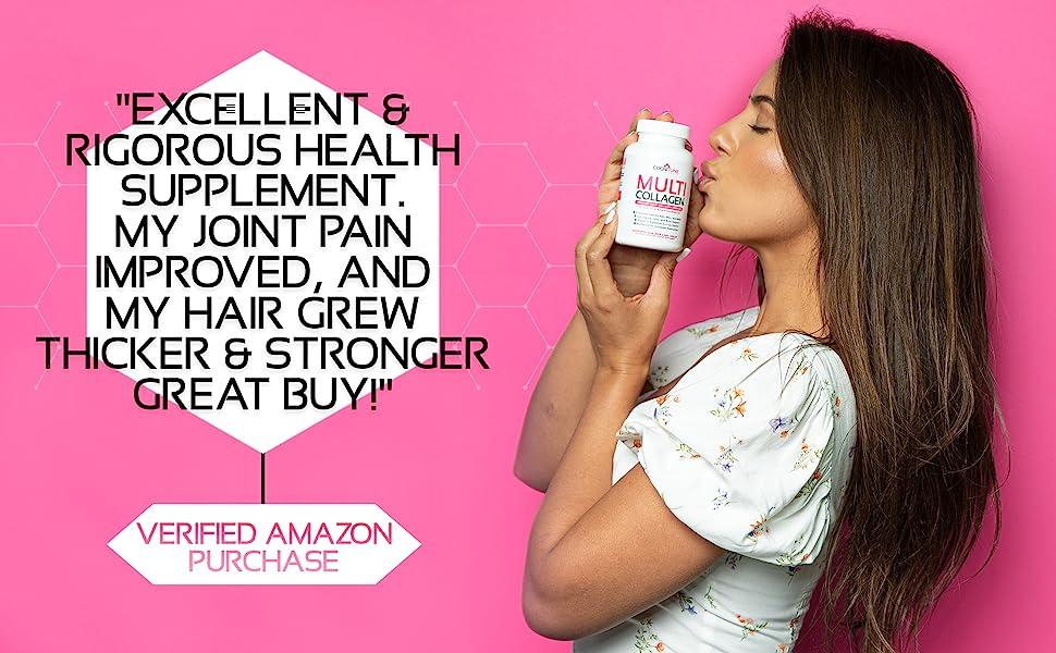 Excellent Multi Collagen Pills For Women & Men Improved Hair Skin Joint Health