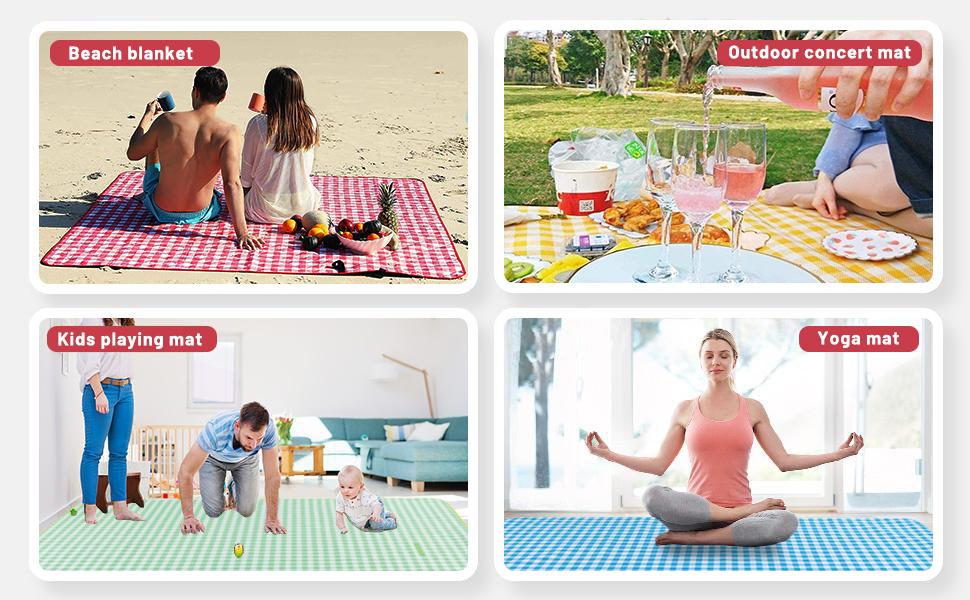 mulitiple applications picnic blanket beach mat capming mat