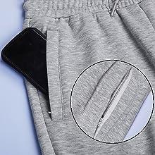 Big hidden zipper pockets