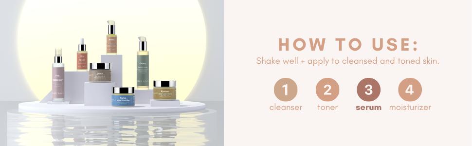 vitamin c how to use cleanser toner serum moisturizer
