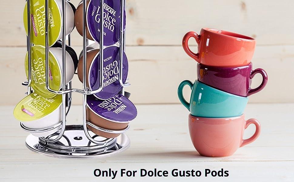 EXZACT Support pour capsules à café, compatible avec des capsules de Dolce Gusto