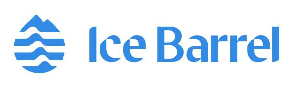 Ice Barrel blue over white logo