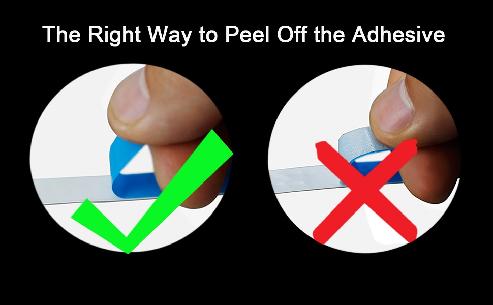 The right way to peel off the adhesive