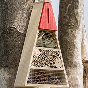 Insect house on tree