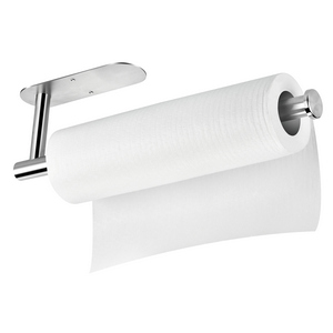 Paper Towel Holder Under Cabinet Self Adhesive or Drilling,Paper Towels Rolls Rack for Kitchen