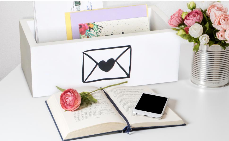 White letter box