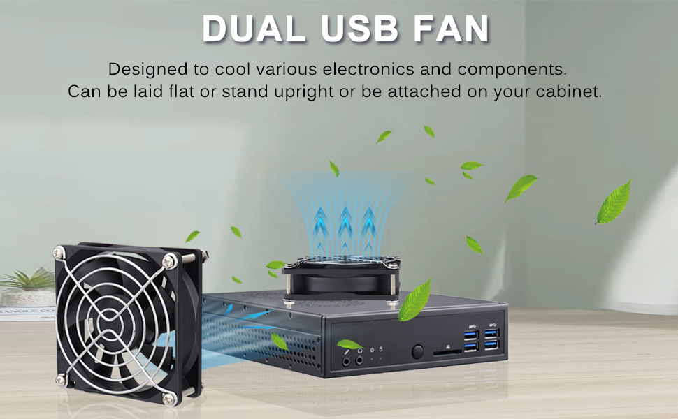 Quiet Dual 80mm USB Fan