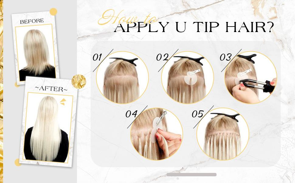 Keratin u tip hair extensions