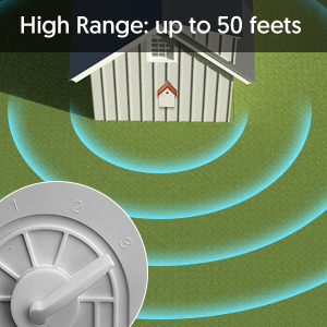 High Range: up to 50 feets