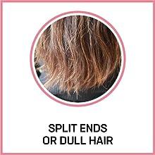split ends or dull hair