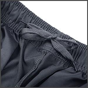 Elastic waistband with internal drawstring