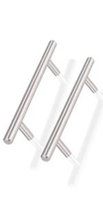 t bar cabinet handles brushed nickel