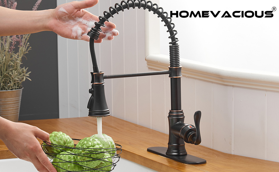 Smart Touchless Kitchen Sink Faucets with Deck Plate