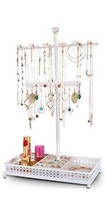 Jewelry stand white