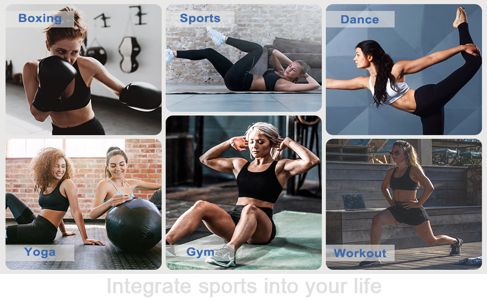Abrithy racerback sports bra allows you enjoy a healthy and comfortable life