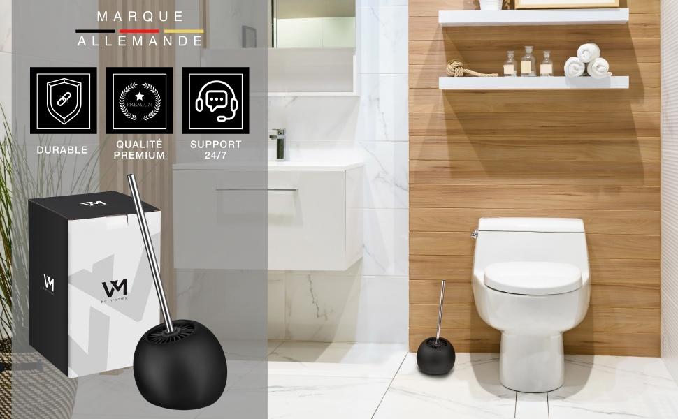 brosse wc toilettebalai balayette suspendu toilettes de silicone boisbrosses et supports