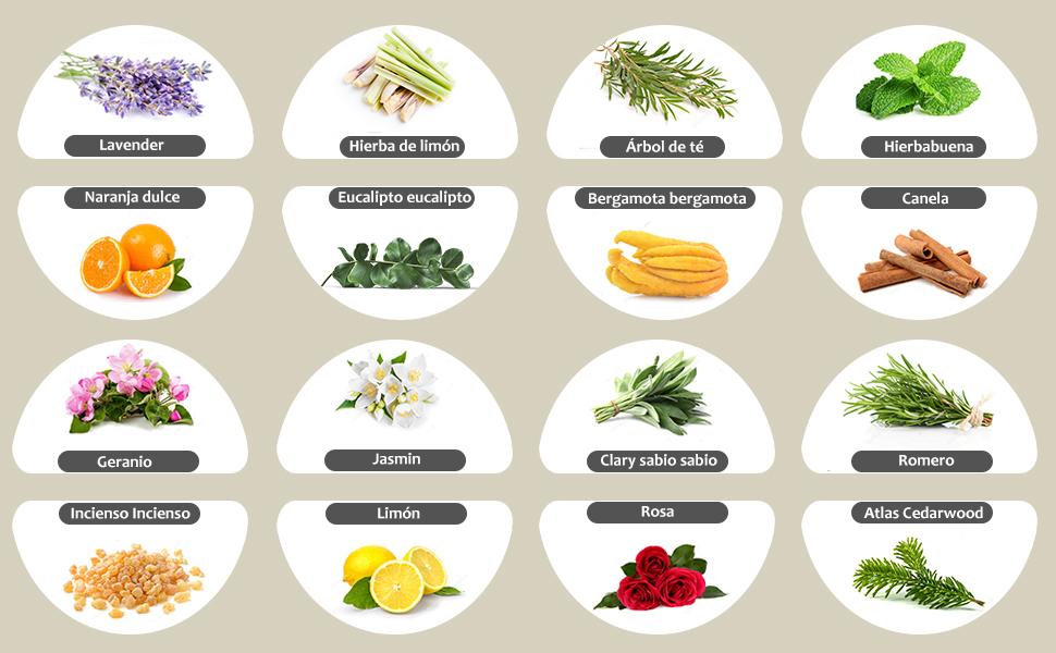 Aceites Esenciales para difusor
